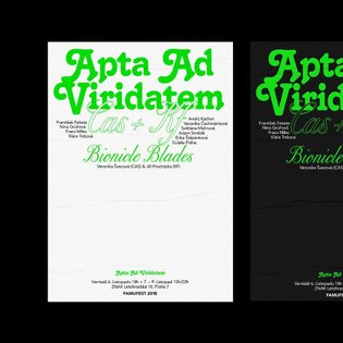 Apta Ad Viridatem. Poster and visual of FAMUFEST minor exhibition (2018) . Arranged by students of Department of Photography...