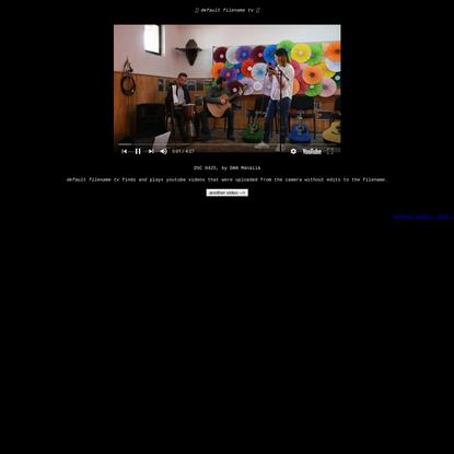 ?? default filename tv ??