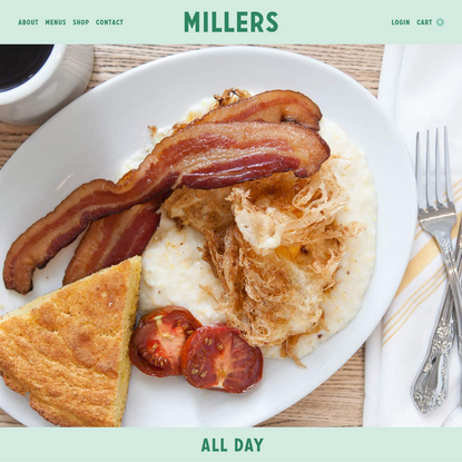 Millers All Day | Millers All Day | Charleston, SC | King Street