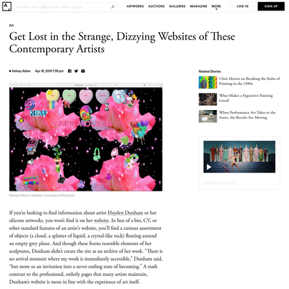These Artist Websites Are Dizzying Works of Art - Artsy