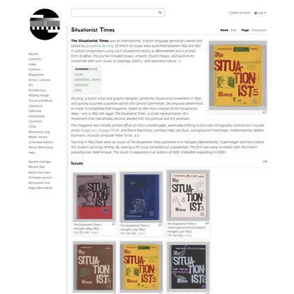 Situationist Times - Monoskop