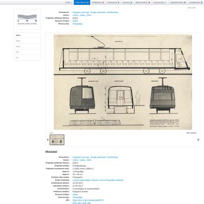 Ātrgaitas tramvajs. Studiju planšetes, fotofiksācija | LNB Digitālā bibliotēka - DOM PIEEJA
