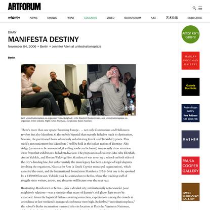 Manifesta Destiny