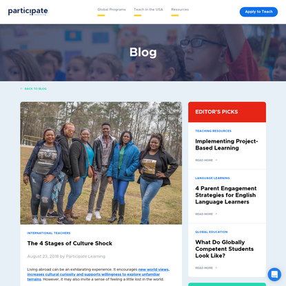 The 4 Stages of Culture Shock   Blog   Participate