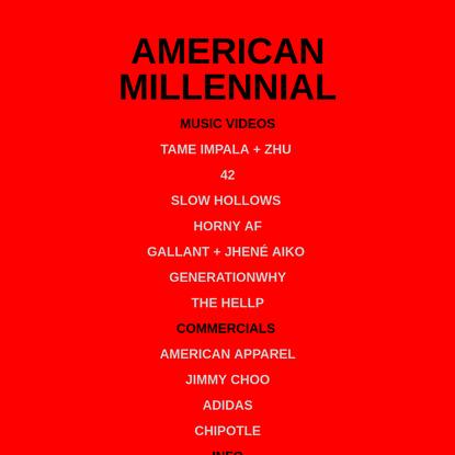 American Millennial