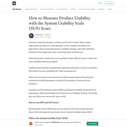 How to Measure Product Usability with the System Usability Scale (SUS) Score
