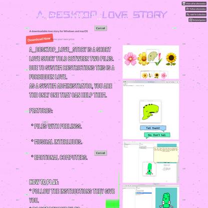 A_DESKTOP_LOVE_STORY by alienmelon
