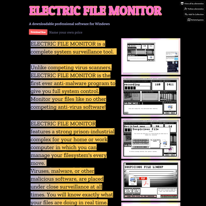 ELECTRIC FILE MONITOR by alienmelon