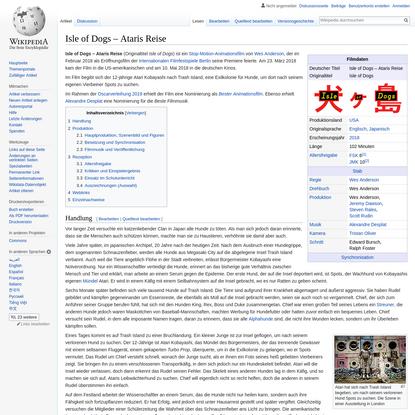 Isle of Dogs - Ataris Reise - Wikipedia