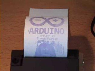 Arduino Epson M-190 Printer Mechanism Demo