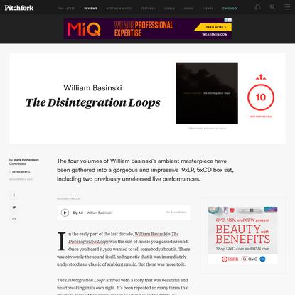 William Basinski: The Disintegration Loops
