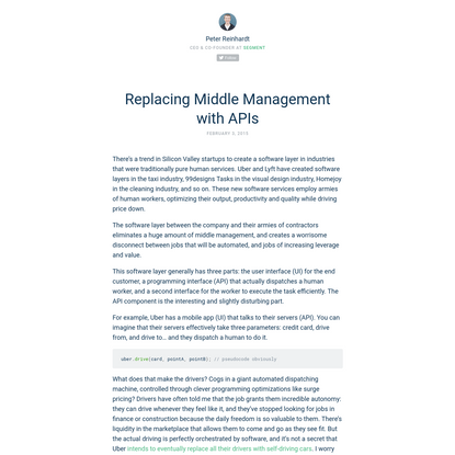Replacing Middle Management with APIs by Peter Reinhardt