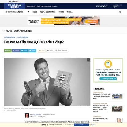 Do we really see 4,000 ads a day? - The Business Journals