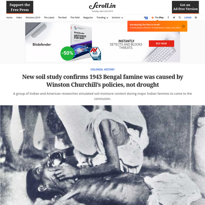 New soil study confirms 1943 Bengal famine was caused by Winston Churchill's policies, not drought