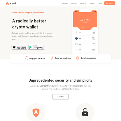 Argent - A better crypto wallet