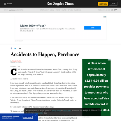 Accidents to Happen, Perchance
