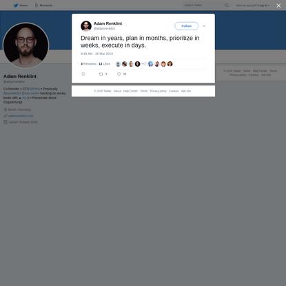 Adam Renklint on Twitter