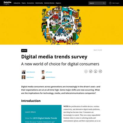 Digital media trends survey