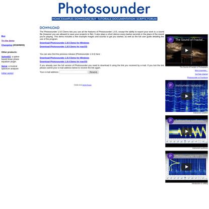 Photosounder.com - Image-sound editor & synthesizer