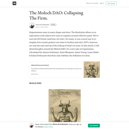The Moloch DAO: Collapsing The Firm.
