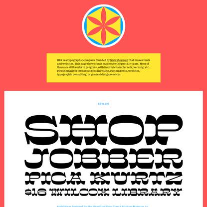 HEX –A typographic company