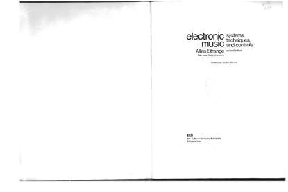 Allen Strange: Electronic Music