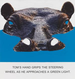 Tom's Hand Grips The Steering, Wheel…, 2015. John Baldessari