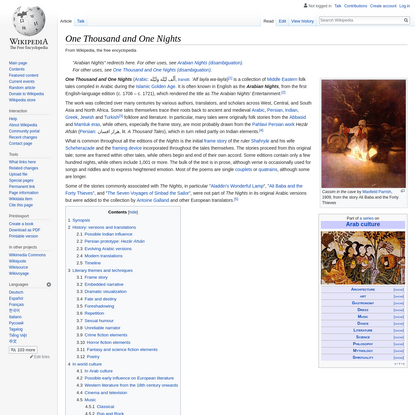 One Thousand and One Nights - Wikipedia