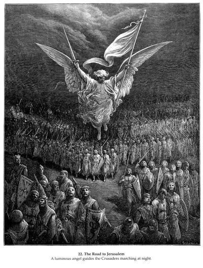 GUSTAVE DORÉ. The Road to Jerusalem, 1877