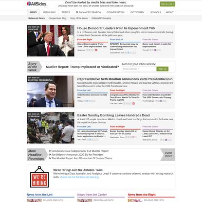 AllSides   Balanced news via media bias ratings for an unbiased news perspective