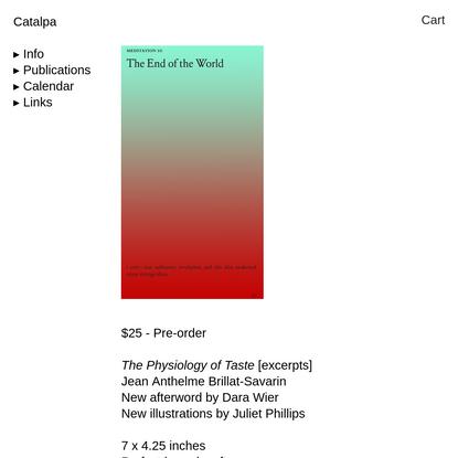 The Physiology of Taste - Catalpa