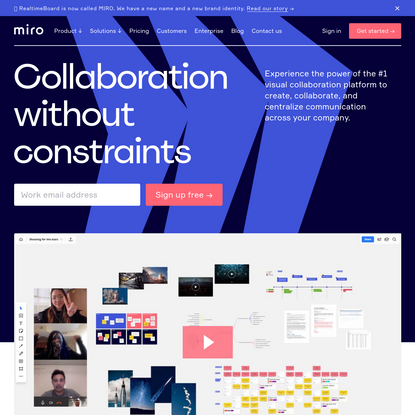 Team collaboration software & online whiteboard for teams   Miro