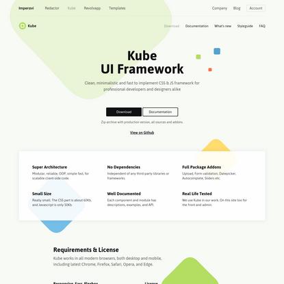 Kube CSS & JS Framework