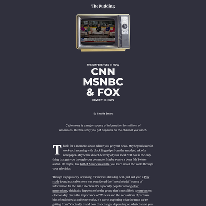 The Differences in How CNN, MSNBC, and FOX Cover the News