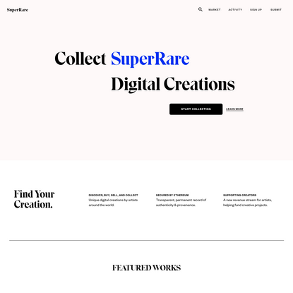 SuperRare - Join the social, creative economy on Ethereum