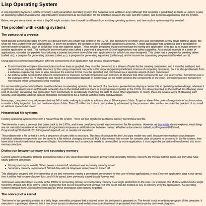Lisp Operating System