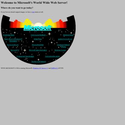 Welcome to Microsoft