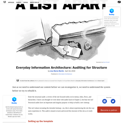 Everyday Information Architecture: Auditing for Structure