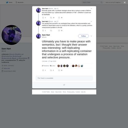 Sam Hart on Twitter