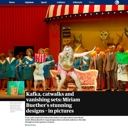 Kafka, catwalks and vanishing sets: Miriam Buether's stunning designs - in pictures