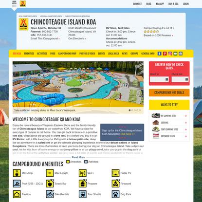 Chincoteague Island, Virginia Campground | Chincoteague Island KOA