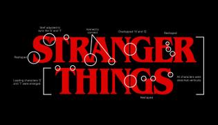 Stranger Things logotype lockup annotated
