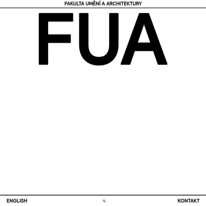 FUA Fakulta umění a architektury