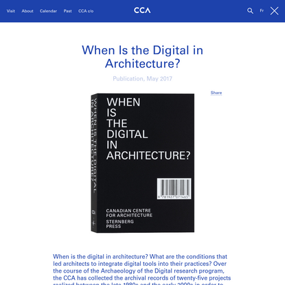 When Is the Digital in Architecture? book