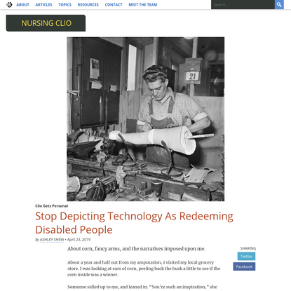 Stop Depicting Technology As Redeeming Disabled People