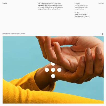 Moniker — San Francisco Design Studio
