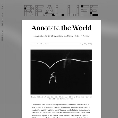 Annotate the World - Real Life