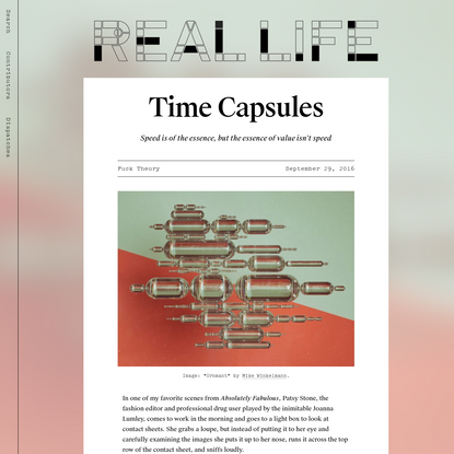 Time Capsules - Real Life