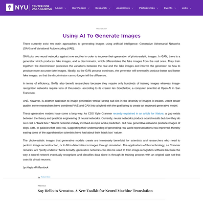 Using AI To Generate Images