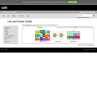 Life and Death Toolkit - UAL Research Online